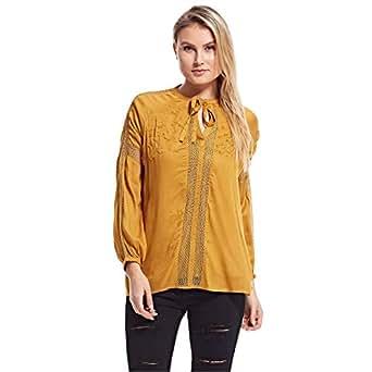 Amenapih Blouses For Women, Yellow XS/s