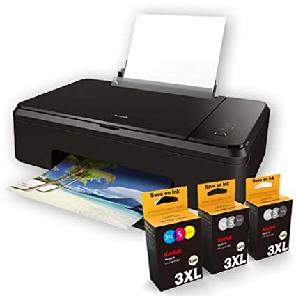 Kodak Verite Wireless Color Photo Inkjet Printer With Scanner Copier And XL Ink Bundle