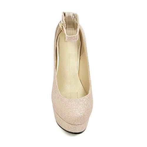 55 Bride Or Escarpins Talons Coolcept Chaussures Femmes à Cheville Bz8ZA