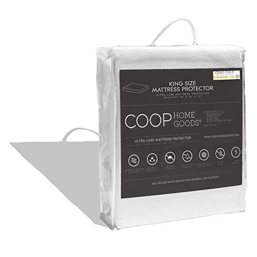 COOP HOME GOODS - Mattress Protector - Waterproof and Hypoallergenic - Soft and Noiseless Lulltra® Fabric from Bamboo Derived Rayon - Protection Against fluids - Oeko-TEX Certified - King