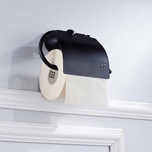 トイレ用ロールホルダー トイレットペーパーホルダー 全2色 - ブラック