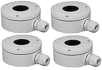 DS-1280ZJ-XS Aluminum Bracket Junction Back Box for Hikvision DS-2CD2042WD-I, 2CD20xx Series Bullet Cameras from AmSecu