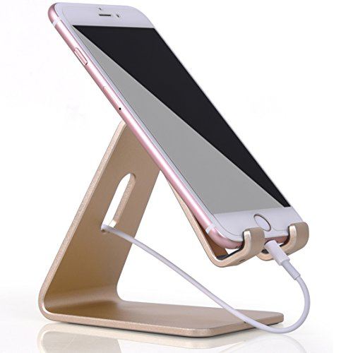 Halloween Decorations Youtube (KAERSI K1 Desktop Phone and Tablet Stand, Cradle, Dock for All Cell Phone, iPhone, Android Tablets, iPad - Gold)