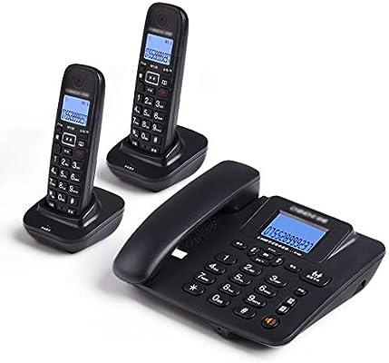 Teléfono LCSHAN 2 Auriculares Inalámbricos Digitales Solo Toque De Llamadas Manos Libres De Alta Definición (Color : Black): Amazon.es: Hogar