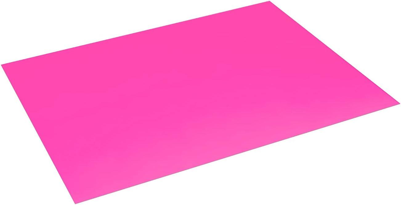 Pack 25 Cartulinas Color Rosa Fluor Tama/ño 50X65 180g