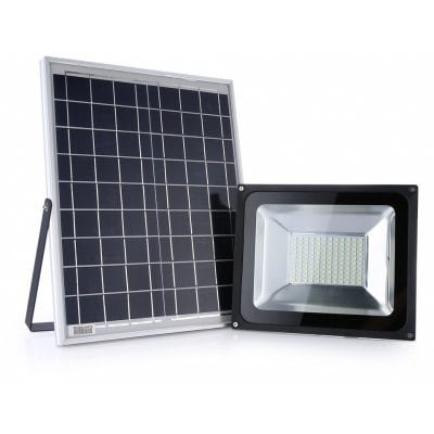 Culver Led Solar Lights, Outdoor Security Floodlight, 50W 1200Lm 6000K IP 65 Solar Flood Light for Lawn, Garden