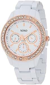XOXO Women's XO5507 Rhinestones Accent White Bracelet Analog Watch