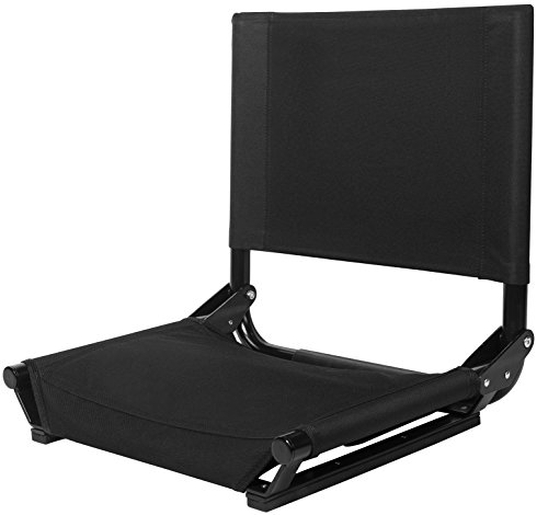 Cascade Mountain Tech Portable Folding Steel Stadium Seats for Bleachers ()