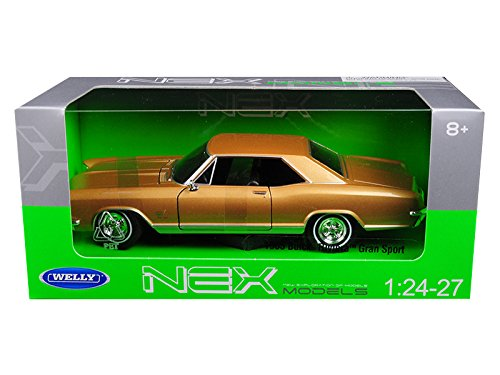 Welly 24072GLD 1965 Buick Riviera Gran Sport Gold 1/24 - 1/27 Diecast Model Car