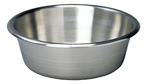 Pivit Antibacterial Stainless Steel Cooking Mixing & Prep Bowl | 7 Quart | 13.625'' x 4.625'' | Seamless No-Spin Recessed Bottom Large, Rounded-Radius Corners for Easy Pouring | Medical German SS Metal by pivit