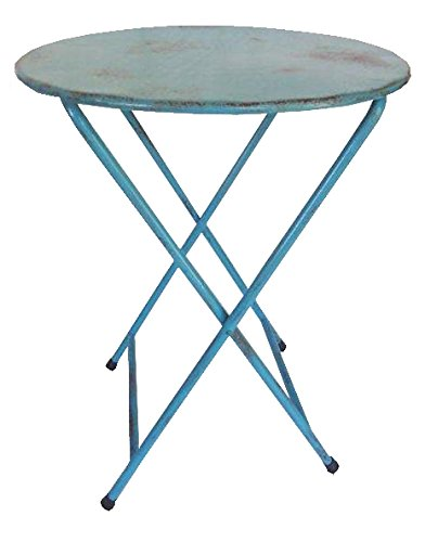 NACH th-4638-AB Round Folding Bistro Table, Blue