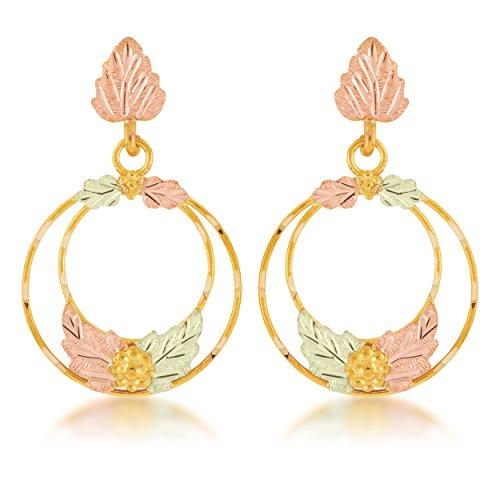 - Black Hills Gold Circle Earrings