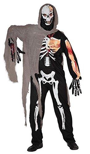 Atosa - Disfraz de esqueleto para hombre, talla 50-52 ...