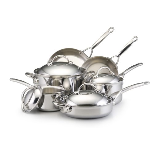 BonJour Stainless Steel Clad 10-Piece Cookware Set