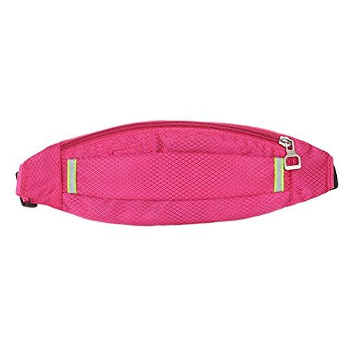 Imperméable Yujeet Bandoulière Nombreuses Pink Réglable Unie Sac Poches Zippées Femme Sac d'épaule Bandoulière Couleur à BUwBI
