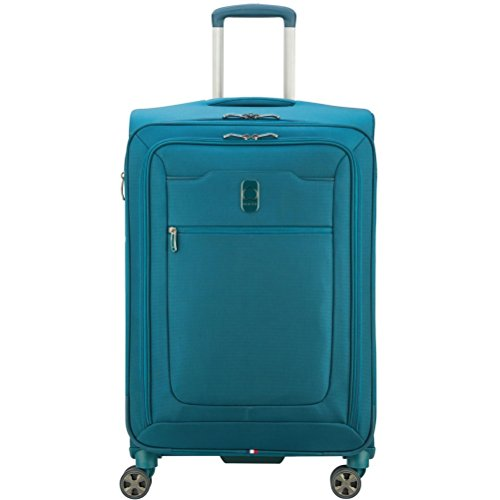 Delsey Luggage Hyperglide 25'' Expandable Spinner Upright, Teal by DELSEY Paris