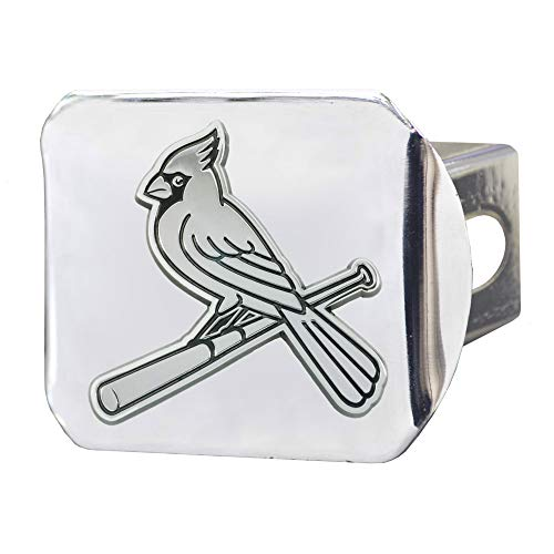St Louis Cardinals Premium Metal Chrome Hitch Cover Bumper Trailer Baseball