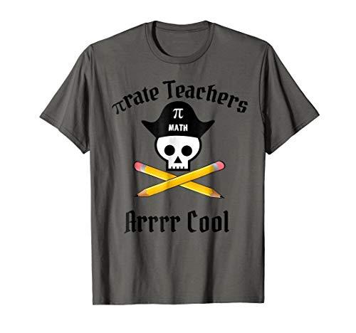 Math Teacher Halloween Pirate Costume Shirt Pi Apparel -
