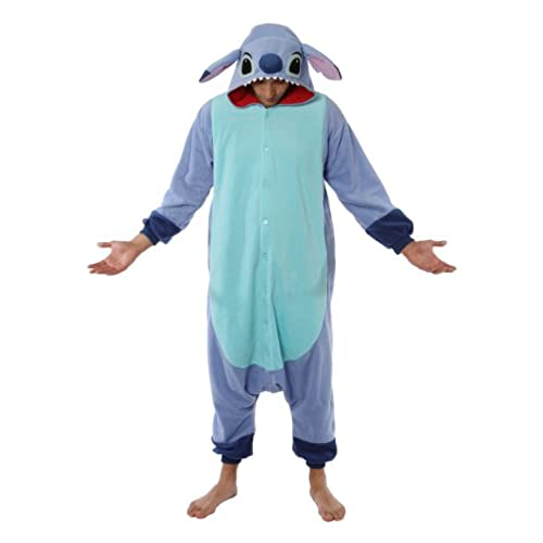 Stitch Pajama Costume (one size fits all),Blue