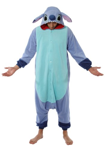 [Stitch Pajama Costume (one size fits all),Blue] (Stitch Costumes Adults)