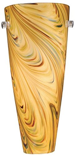 Vaxcel WS30126SN Milano Wall Sconce with Mocha Swirl Glass, 5-3/4
