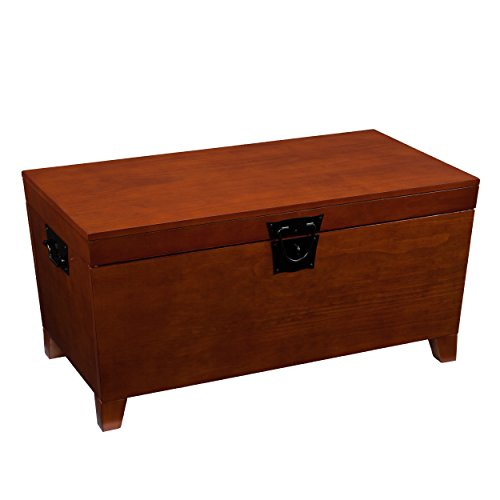 Upton Home Pyramid Trunk Oak Finish Trunks Cocktail Table