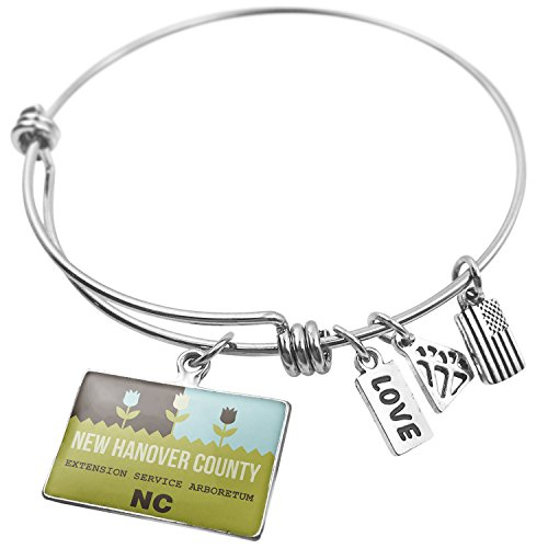 NEONBLOND Expandable Wire Bangle Bracelet US Gardens New Hanover County Extension Service Arboretum - NC -