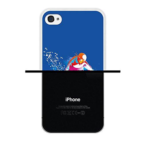 WoowCase Hülle Case für { iPhone 4 iPhone 4S } Handy Cover Schutzhülle Snowboard Sport