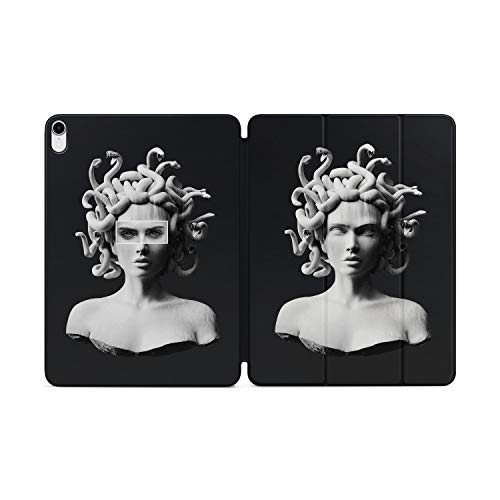 Fine Art Series Smart Folio for iPad Pro 12.9 2018 Magnetic Cover Case Full Protection Design Famous Paintings Beauty Greek Medusa Gorgon Statue