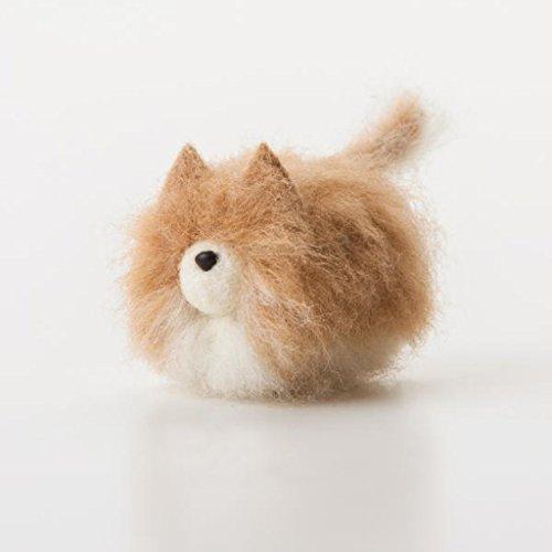 Truslin - DIY Needle Felting Kit with Gift Box Faceless Dog - Pomeranian ()