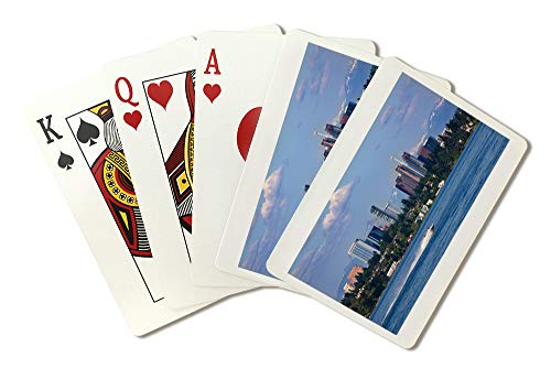 (Lake Washington and Bellevue Photograph A-91371 (Playing Card Deck - 52 Card Poker Size with Jokers))