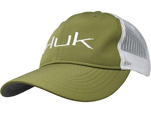 HUK H3000145-390-1 Huk Logo Trucker Cap, Marine Olive Drab, Size 1