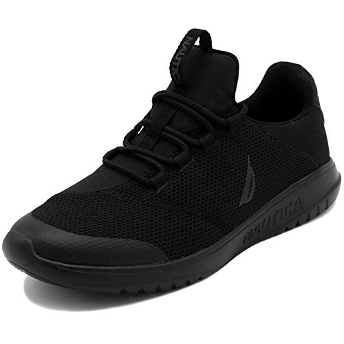 Nautica Men's Casual Fashion Sneakers-Walking Shoes-Lightweight Joggers-Knighton-Blackk-9.5]()