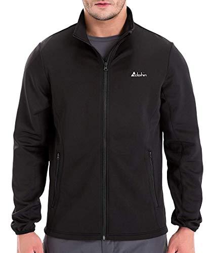 Clothin Men's Training Running Full-Zip Jacket Long Sleeve Performance Track Athletic Outerwear(Black,M)
