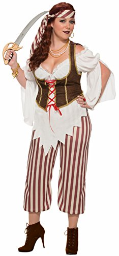 Female Swashbuckler Costume (Forum Women's Swashbuckler Pirate Woman Costume, As Shown, Plus)