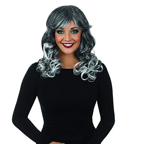 fun shack Women's, Curly Wig Grey One Size