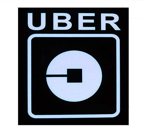 Uber Sign LED Light Sign Logo Sticker Decal Glow Wireless Decal Accessories Removable Uber Lyft Glowing Sign for Car Taxi Uber Lyft Light up Dry Battery Power by Invert Earth (Image #6)