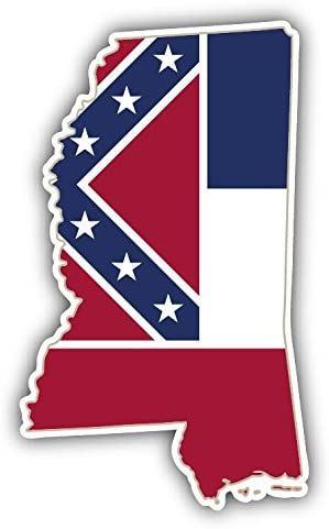 innagrom Mississippi USA State Map Flag Home Decal Vinyl Sticker 3`` X 5``