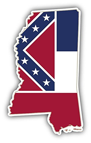 Mississippi USA State Map Flag Home Decal Vinyl Sticker 3'' X 5''