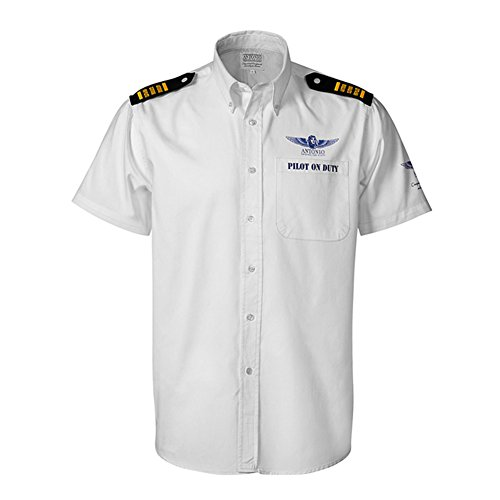 Airline shirt with epaulettes PILOT ON DUTY - Pilot Airline Shirts