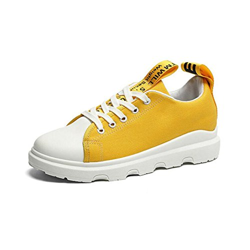 Zapatos de mujer Primavera Otoño Comfort Sneakers Zapatos planos Punta redonda Casual Zapatos al aire libre Blanco Negro Amarillo Verde GAOLIXIA Yellow