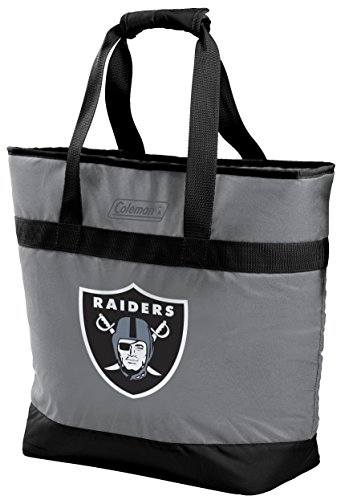 NFL Oakland Raiders Unisex LP0757NFL 30 Can Tote Cooler, Black, Adult