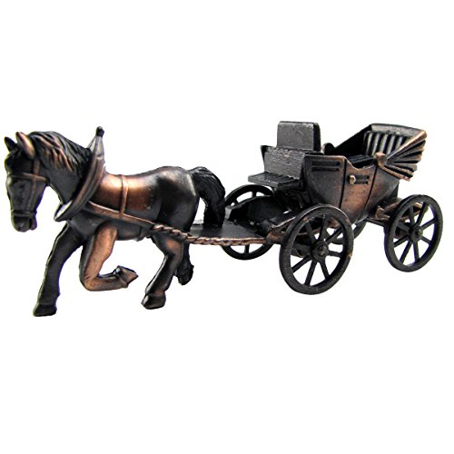TG,LLC Horse & Carriage Die Cast Toy Pencil Sharpener Miniature 1:48 O Train Scale Replica