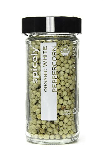 Spicely Organic Peppercorn White Whole 2.20 Ounce Jar Certified Gluten (Organic White Corn)