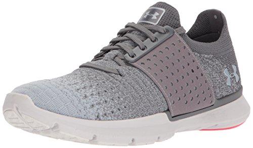 Under Armour Women's Speedform Slingwrap Fade Running Shoe, Graphite (101)/Glacier Gray, 9
