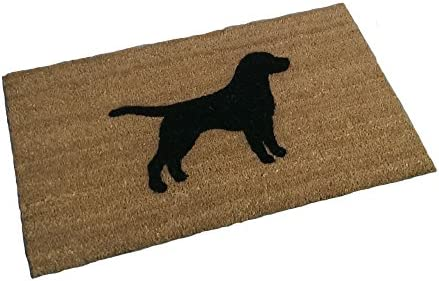 German Shepherd Silhouette Doormat 18 x30