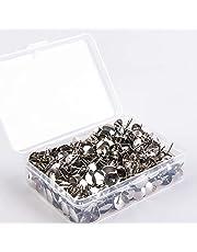 500 Stuks Punaise, Zilveren Punaise, Kantoor Punaise, Met Doorzichtige Plastic Doos, Geschikt voor het Ophangen van Memo's en Foto's, Kantoor of Doe-Het-Zelf(Zilver)