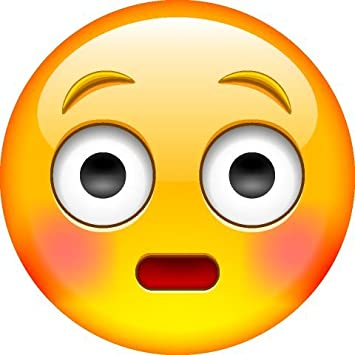 Surprised face emoji