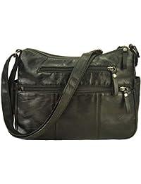 d12fe37b3159 Volcanic Rock Women Crossbody Bag Pocketbooks Soft PU Leather Purses and  Handbags Multi Pocket Shoulder Bag