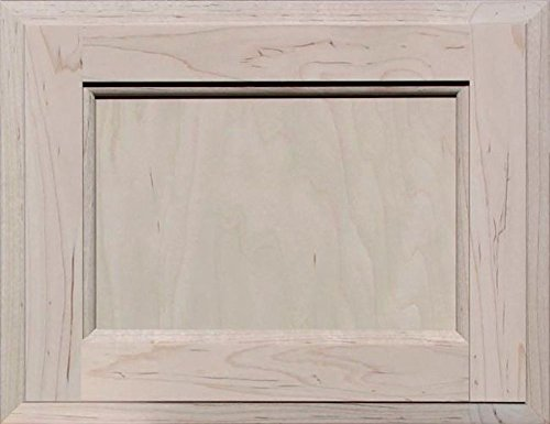 Unfinished Maple Square Flat Panel Cabinet Door by Kendor, 10H x 13W